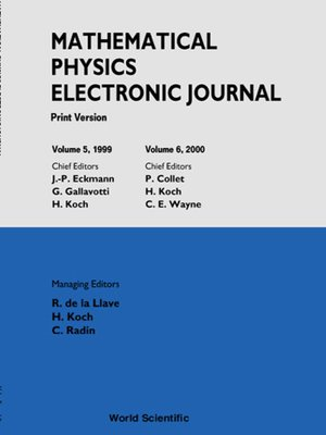 cover image of Mathematical Physics Electronic Journal, Volumes 5 and 6