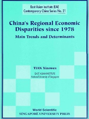 cover image of China's Regional Economic Disparities Since 1978