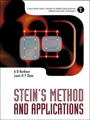 cover image of Stein's Method and Applications