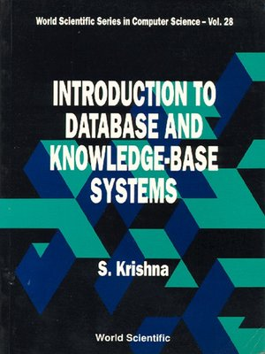 cover image of Introduction to Database and Knowledge-Base Systems