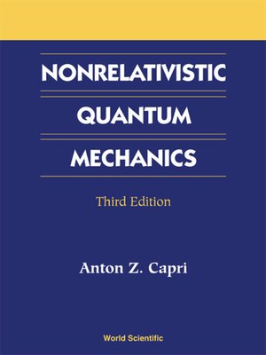 cover image of Nonrelativistic Quantum Mechanics