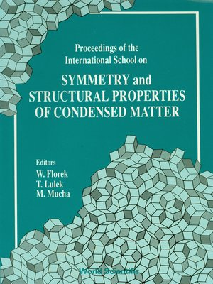 cover image of Symmetry and Structural Properties of Condensed Matter