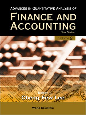 cover image of Advances In Quantitative Analysis of Finance and Accounting--New Series (Volume 2)