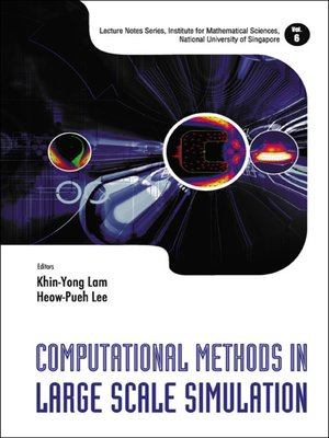cover image of Computational Methods In Large Scale Simulation