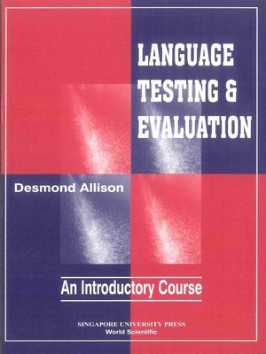 cover image of Language Testing and Evaluation