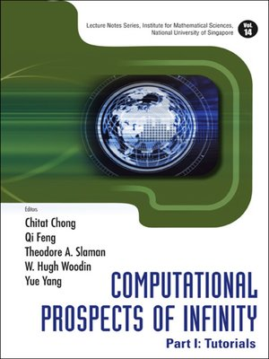 cover image of Computational Prospects of Infinity--Part I
