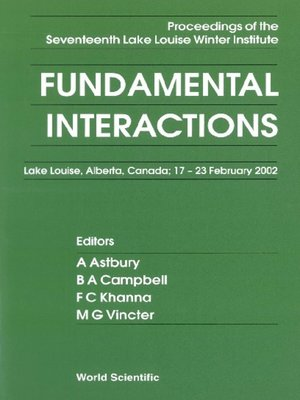 cover image of Fundamental Interactions--Proceedings of the Seventeenth Lake Louise Winter Institute
