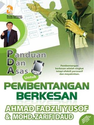 cover image of PDA untuk Pembentangan Berkesan