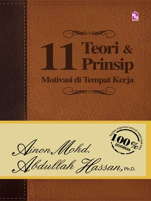 cover image of 11 Teori Dan Prinsip Motivasi Di Tempat Kerja