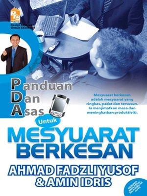 cover image of PDA untuk Mesyuarat Berkesan