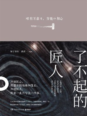 cover image of 了不起的匠人