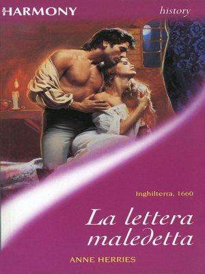 cover image of La lettera maledetta