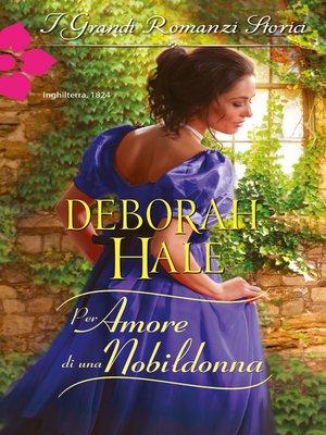 cover image of Per amore di una nobildonna