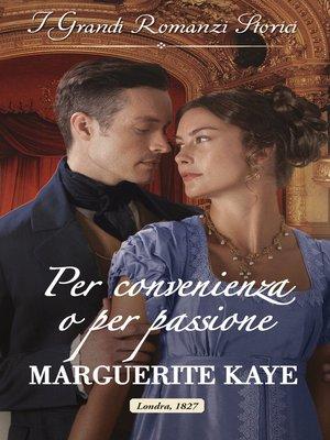 cover image of Per convenienza o per passione
