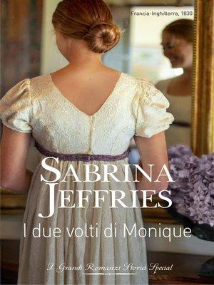 cover image of I due volti di Monique