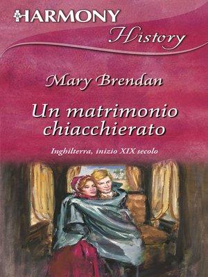 cover image of Un matrimonio chiaccherato