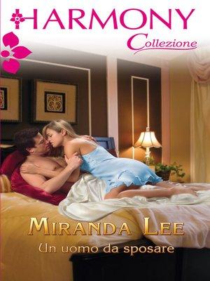 cover image of Un uomo da sposare