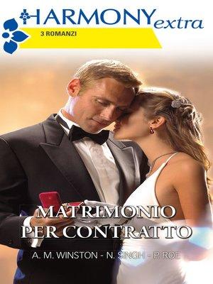 cover image of Matrimonio per contratto