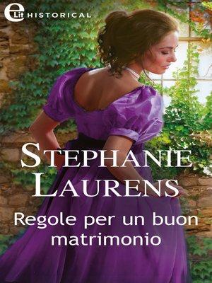 cover image of Regole per un buon matrimonio