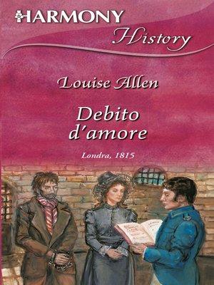 cover image of Debito d'amore