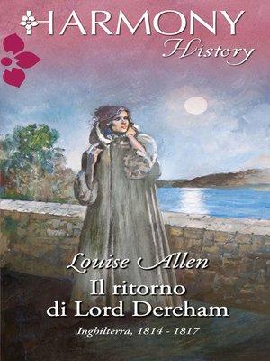 cover image of Il ritorno di lord dereham