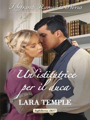 cover image of Un'istitutrice per il duca