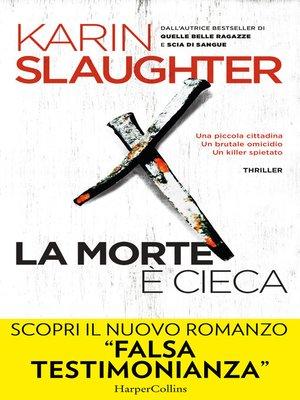 cover image of La morte è cieca