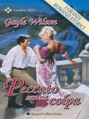 cover image of Peccato senza colpa