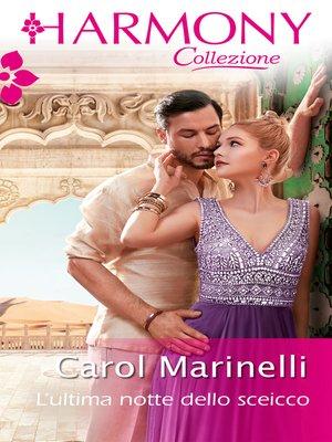 cover image of L'ultima notte dello sceicco