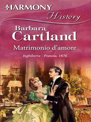 cover image of Matrimonio d'amore