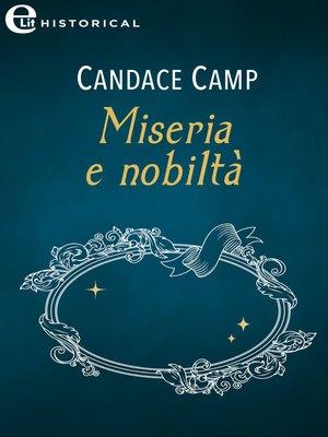 cover image of Miseria e nobiltà