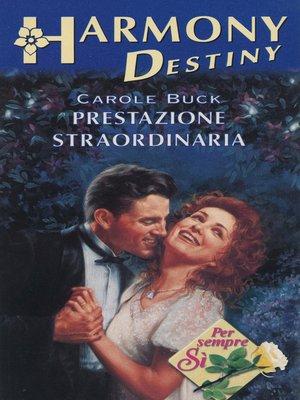 cover image of Prestazione straordinaria