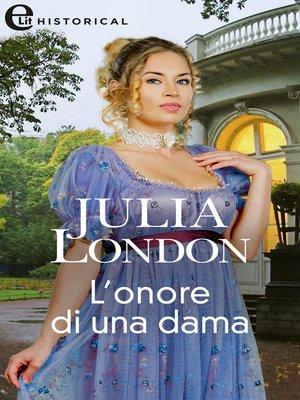 cover image of L'onore di una dama