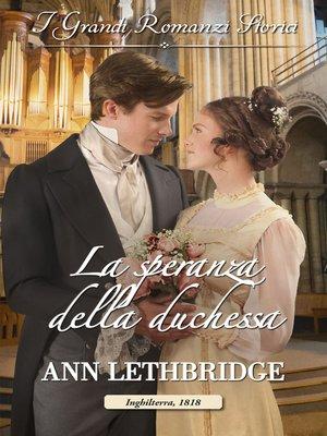 cover image of La speranza della duchessa