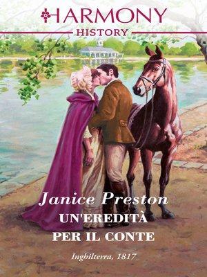 cover image of Un'eredità per il conte