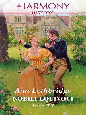 cover image of Nobili equivoci