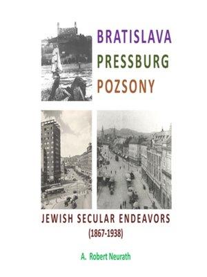 cover image of Bratislava Pressburg Pozsony