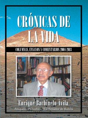 cover image of Crónicas De La Vida