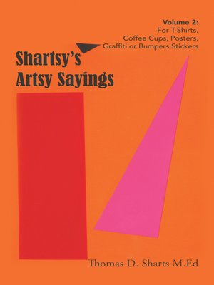 cover image of Shartsy'S Artsy Sayings Volume 2
