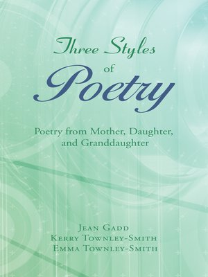 cover image of Three Styles of Poetry