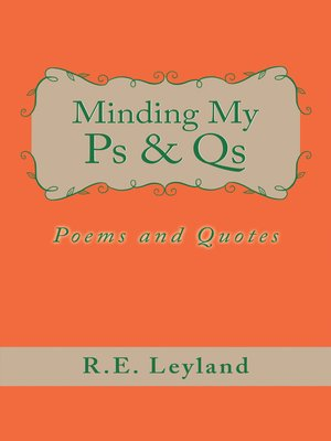 cover image of Minding My Ps & Qs