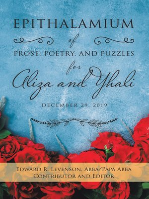cover image of Epithalamium of  Prose, Poetry, and Puzzles for Aliza and Yhali