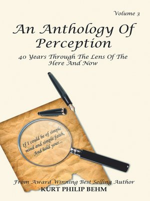 cover image of An Anthology of Perception Volume 3