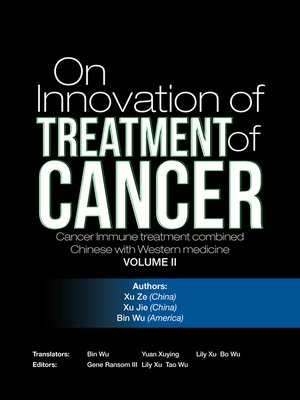 cover image of On  Innovation of  Treatment of Cancer