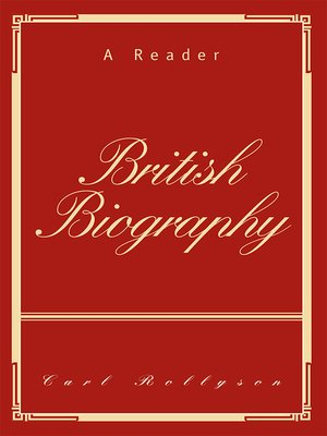cover image of British Biography