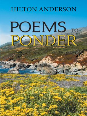 cover image of Poems to Ponder