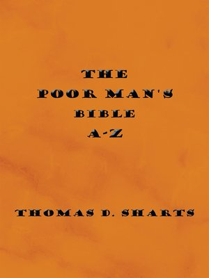cover image of The Poor Man's Bible A-Z