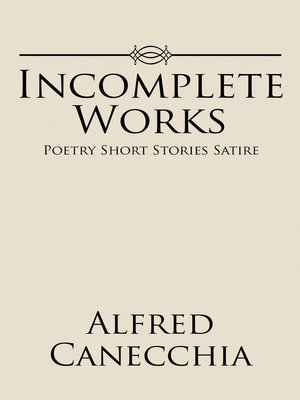 cover image of Incomplete Works
