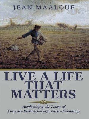 cover image of Live a Life That Matters
