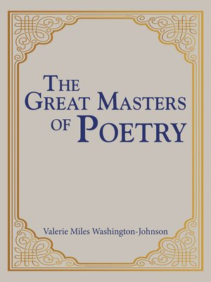 cover image of The Great Masters of Poetry
